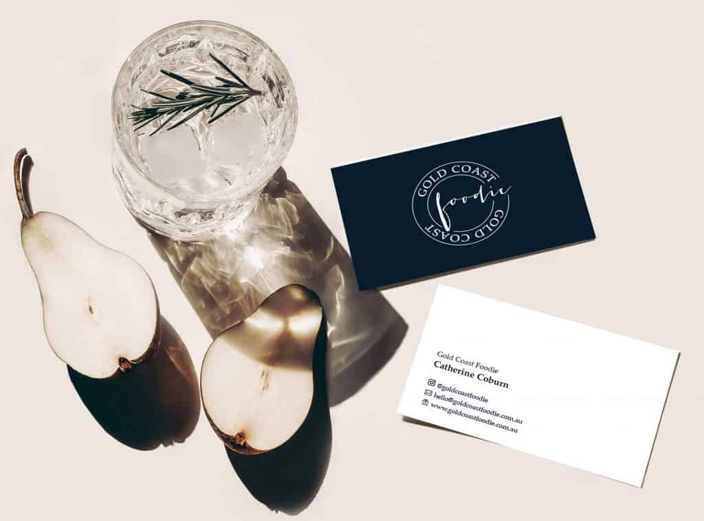 gold coast foodie business cards