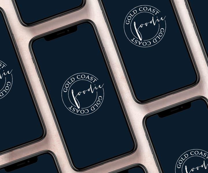 Gold Coast Foodie Logos on mobile phones