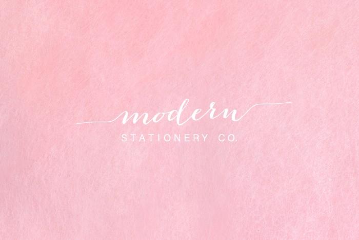 modern stationery co website mockup