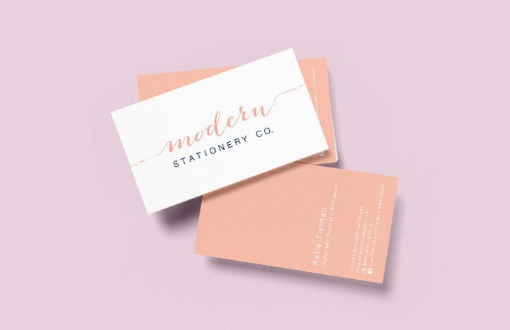 modern stationery co business card example
