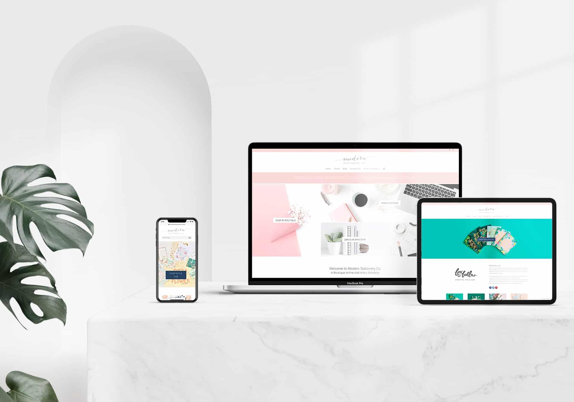 modern stationery co websites